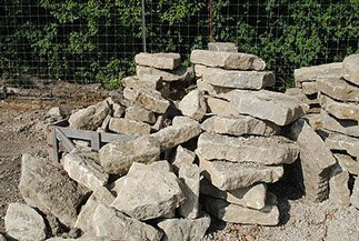 6 Inch Ledge Rock, Landscaping Rock, Decorative Rock Services, Lawrence, Kansas