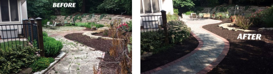 Before and After of Landscape Renovation in Lawrence, Kansas