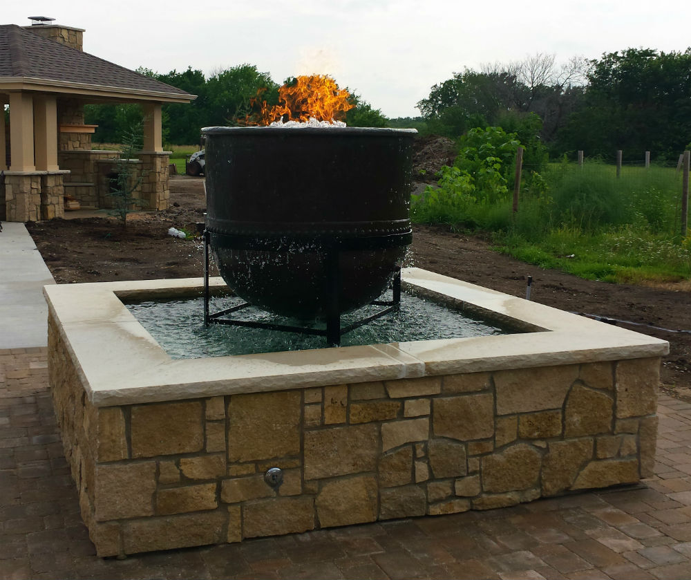 Cast Iron Fire Pits | Fire Pit Installation | Lawrence ... on For Living Lawrence Fire Pit id=68744
