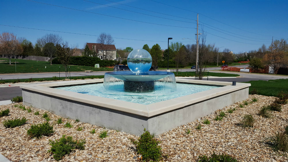 commercial landscaping water feature